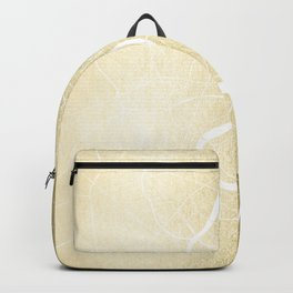 Bangkok Thailand Minimal Street Map - Gold Metallic and White Backpack