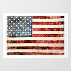 Vintage American Flag Art Print