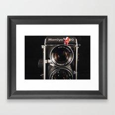 Twin Lens Xmas Framed Art Print