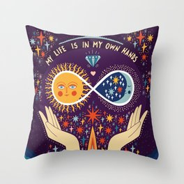My life is in my own hands Throw Pillow