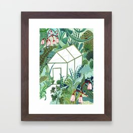 The Jungle Greenhouse Framed Art Print