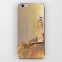 A golden, Crisp Point iPhone Skin
