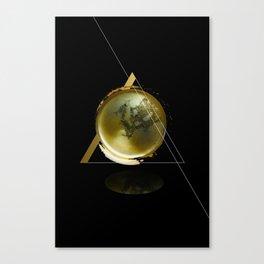 Triangular Entangled Moon Black Canvas Print
