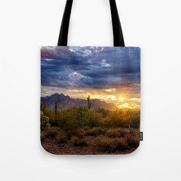 A Sonoran Desert Sunrise Tote Bag