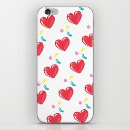 heart hearts iPhone Skin