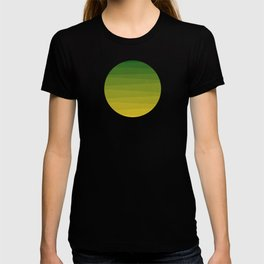 Shades of Grass - Line Gradient Pattern between Lime Green and Bright Yellow T-shirt