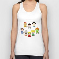 street fighter Tank Tops featuring A Boy - Street fighter by Christophe Chiozzi