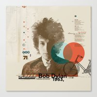 bob dylan Canvas Prints featuring Bob Dylan by Azlif