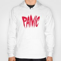 panic at the disco Hoodies featuring PANIC by Chris Piascik