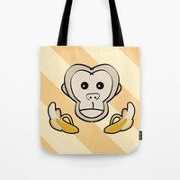 monkey Tote Bags featuring Monkey by Nir P
