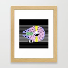 Millennium Falcon Geometric Style - Pastel, abstract design Framed Art Print