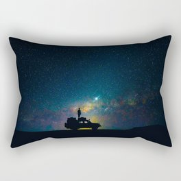 Australian Outback At Night Star Night Sky Milky Way Galaxy Colorful Rectangular Pillow