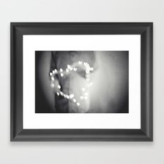 Love is a blur Framed Art Print