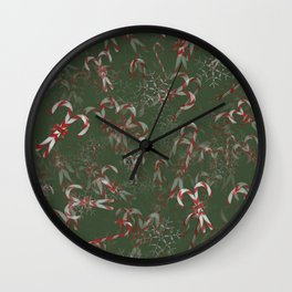Candy Canes Galore! Wall Clock