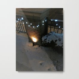 Lights On A String Metal Print