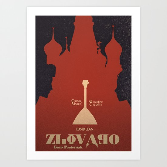 Zhivago - Alternative Movie Poster Art Print