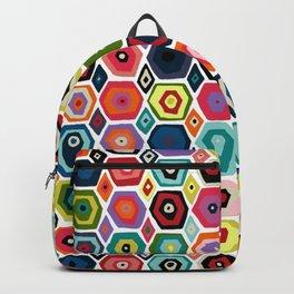 hex diamond white Backpack