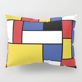 Mondrian Geometric Art Pillow Sham