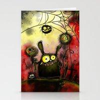 creepy Stationery Cards featuring creepy by Katja Main