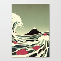 yetiland Canvas Prints featuring Go with the flow by Yetiland