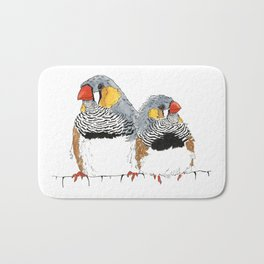 Zebra Finch Buddies Bath Mat
