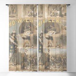 Vintage Richard III Theatre Poster Sheer Curtain