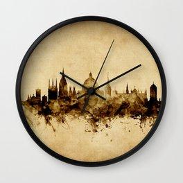 Oxford England Skyline Wall Clock