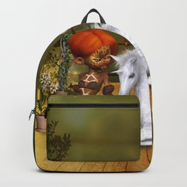 Little fairy with unicorn foal Backpack