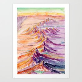 Cascade Dragon - PNW Mountain Range Watercolor Art Print