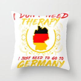 Germany Flag Nation Home Love Gift Throw Pillow
