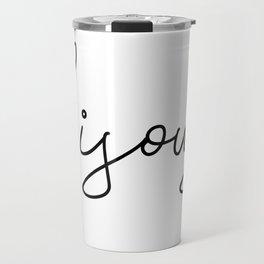 bisous Travel Mug