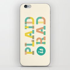 Plaid is Rad iPhone Skin