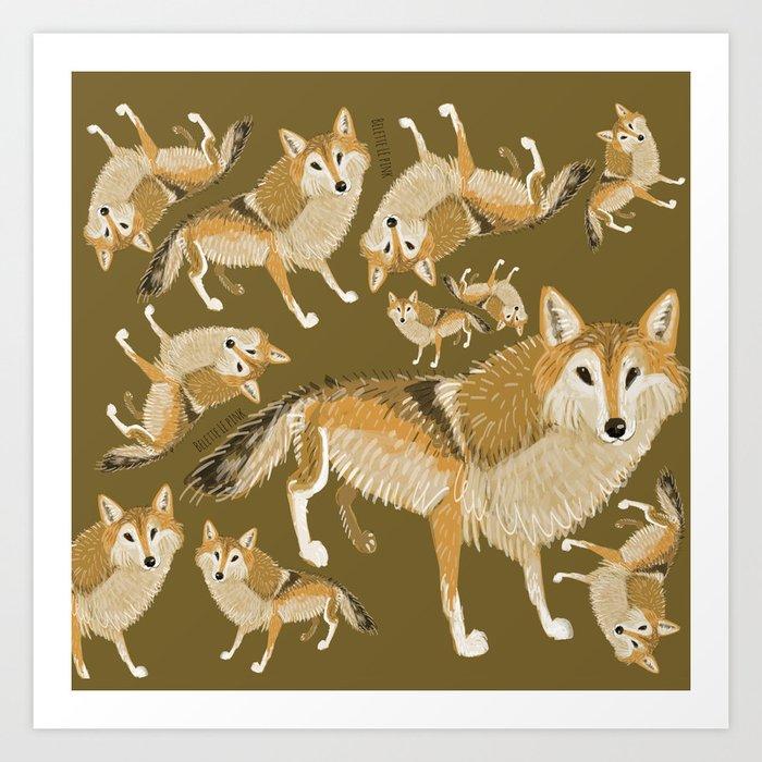 Tibetan wolf (pattern) Art Print