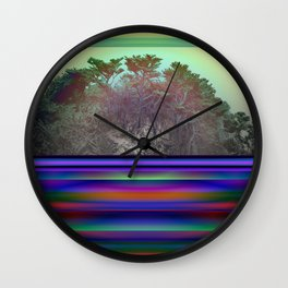 Point Lobos By Kenny Rego Wall Clock