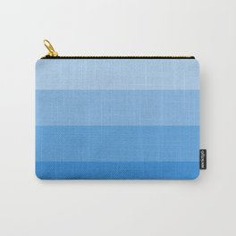 Four Shades of Light Blue Carry-All Pouch
