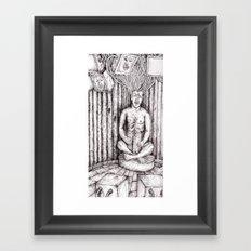 digital meditation Framed Art Print