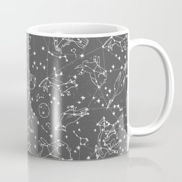 Constellations animal constellations stars outer space night sky pattern by andrea lauren grey Coffee Mug