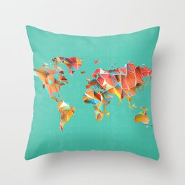 Geometric Map Throw Pillow