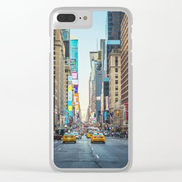 Sunset on 7th Avenue Clear iPhone Case