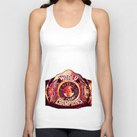 nba Tank Tops featuring NBA CHAMPIONSHIP BELT by mergedvisible