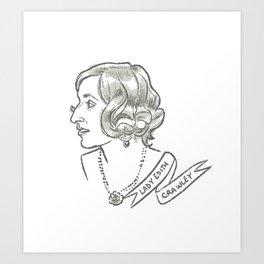Lady Edith Crawley Art Print