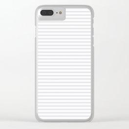Soft Grey Mattress Ticking Narrow Striped Pattern - Fall Fashion 2018 Clear iPhone Case