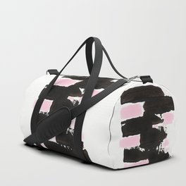Minimal black & pink 01 Duffle Bag