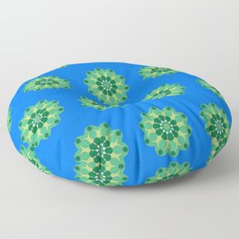 Periwinkle Lily Pads Floor Pillow