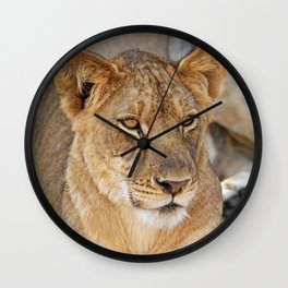 The Young One - Africa wildlife Wall Clock