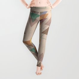 Minimalist Geometric Pendants in Earthtone Leggings