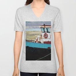 Rusted ship Unisex V-Neck