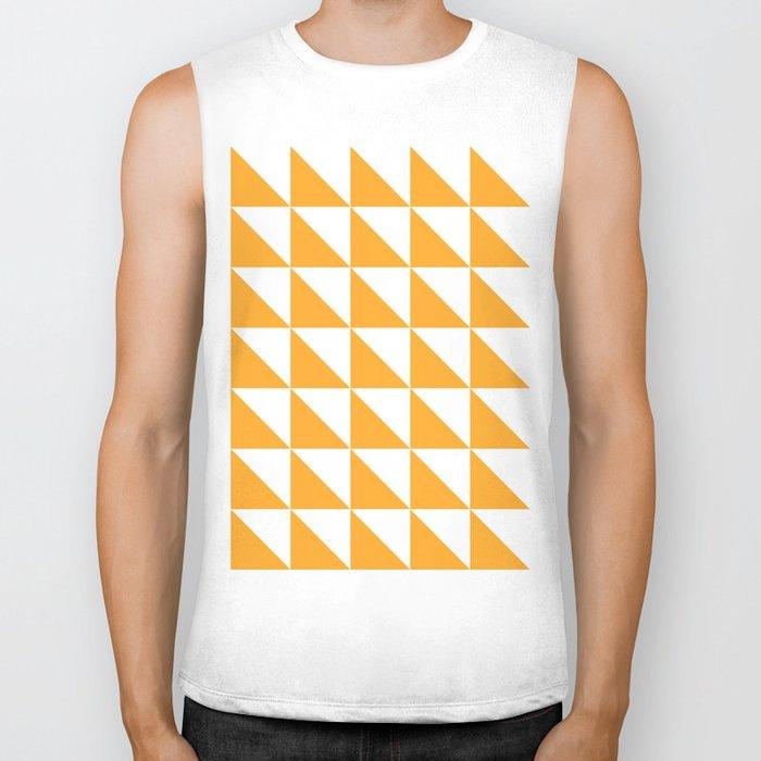 Geometric Pattern 01 Yellow Biker Tank