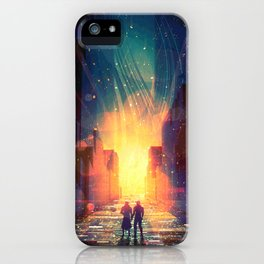 Flecks of Fire iPhone Case