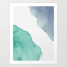 Watercolor Drops Art Print